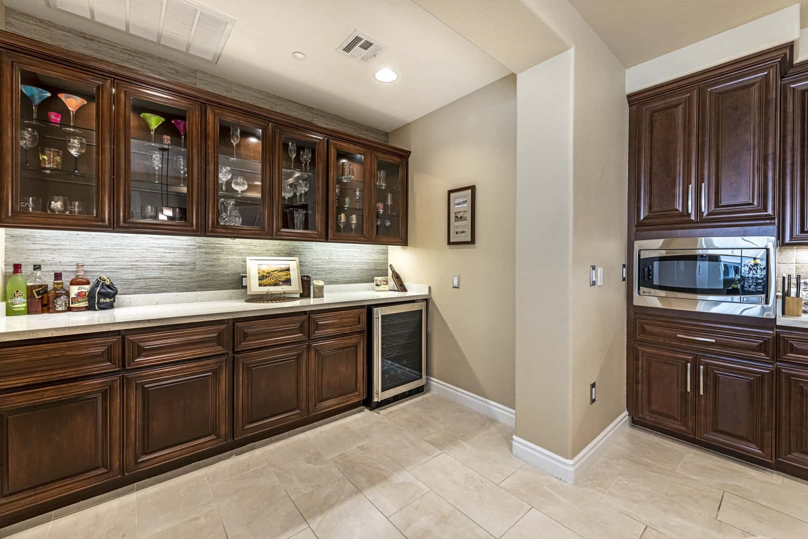 kitchen and custom bar