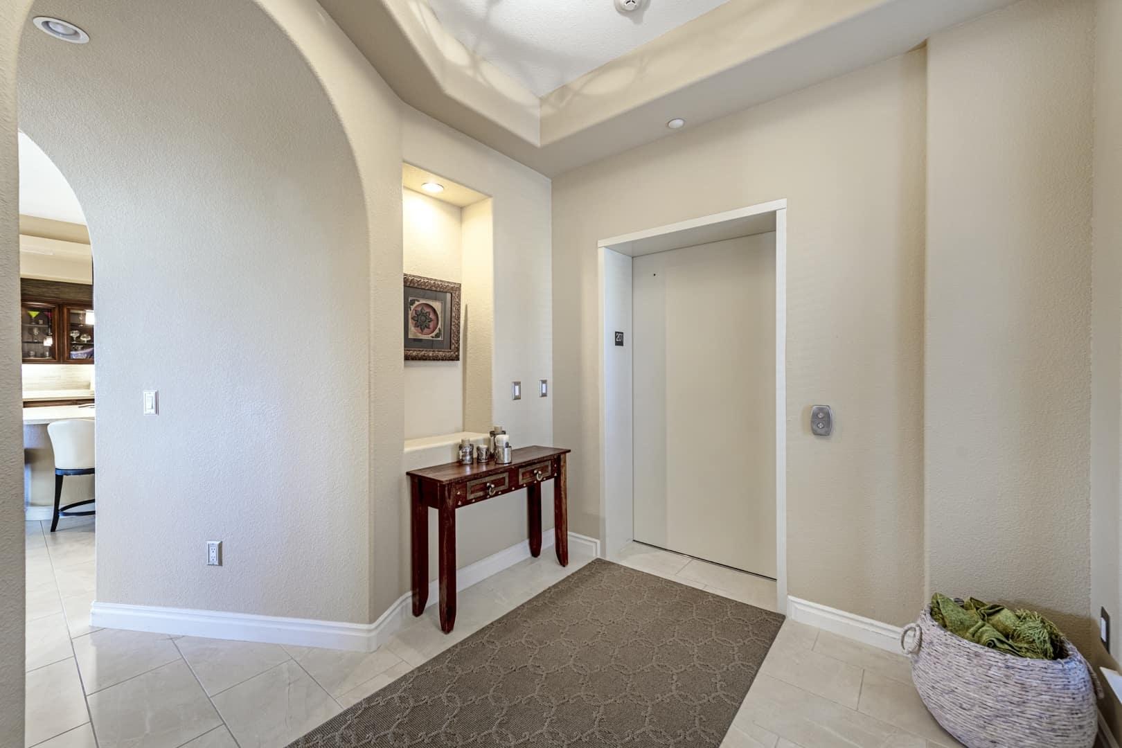 foyer and elevator entrance